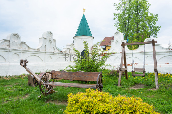 Playground in the yard of the Church.