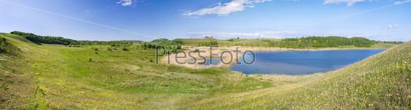 Панорама долины. Изборск, Псковская область, Россия
