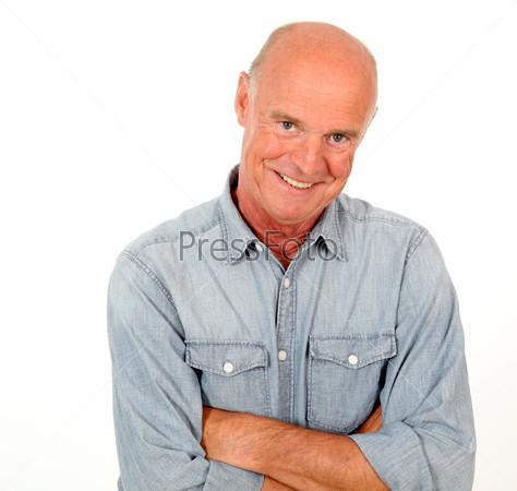 Мужчина в синей рубашке