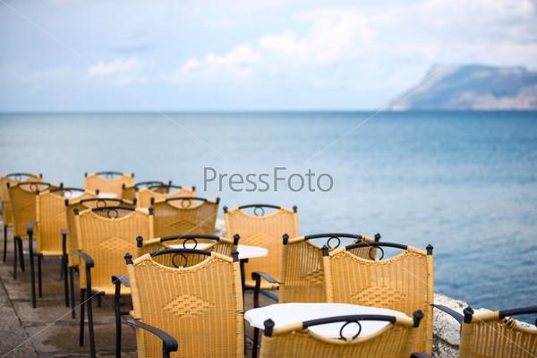 Летнее кафе на острове Крит, Греция