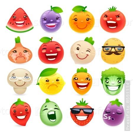 мультяшные картинки фрукты и овощи