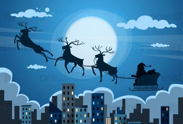 Оленьи сани Санта-Клауса