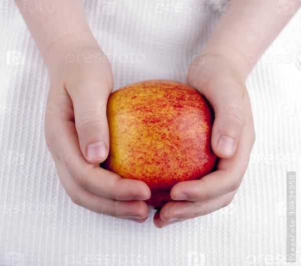Apple in children's hands