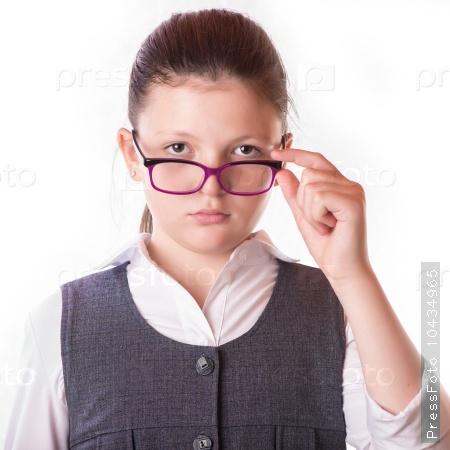 The businesswoman in glasses