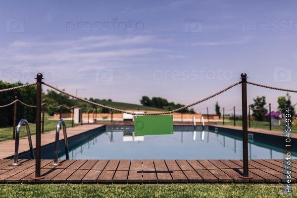 pool near garden in the park.