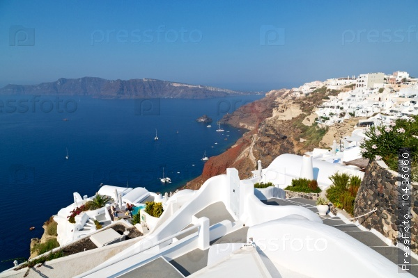 in vacation    europe cyclades santorini old town