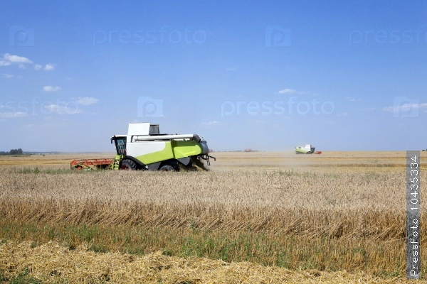 Harvester in the field
