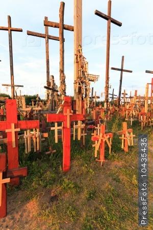 wooden crosses. Christianity