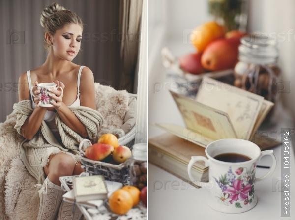 Утренний чай с книгой