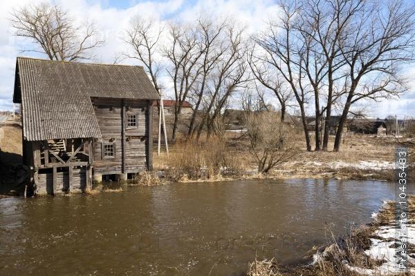 watermill . Golshany Belarus
