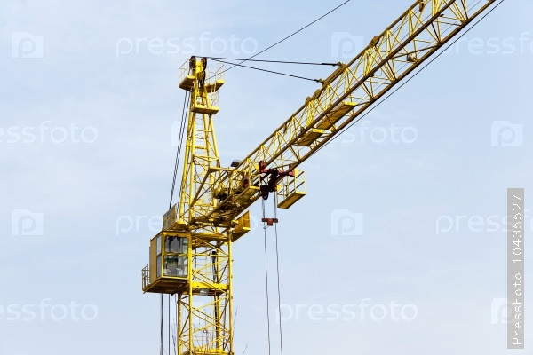 Cranes  against the sky