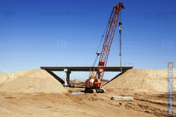 road construction.  bridge