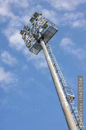 Floodlight at the stadium