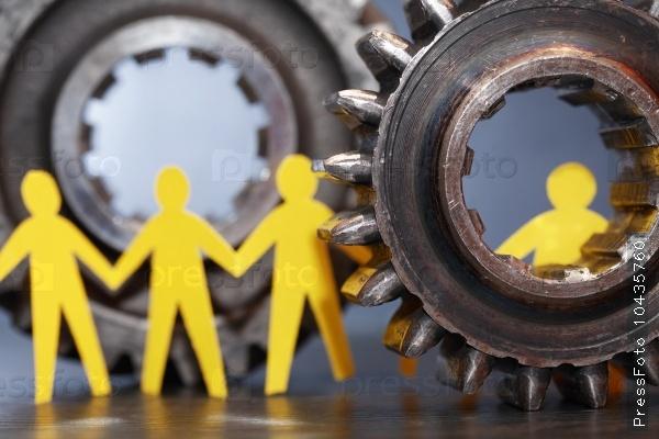 People Between Gears