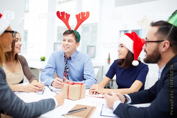 Christmas business team