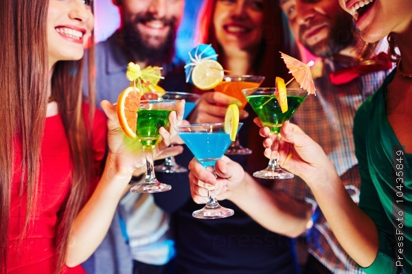 Cocktails in hands