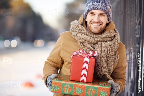 Guy with gifts