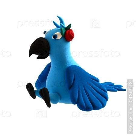 Figure of a parrot from plasticine