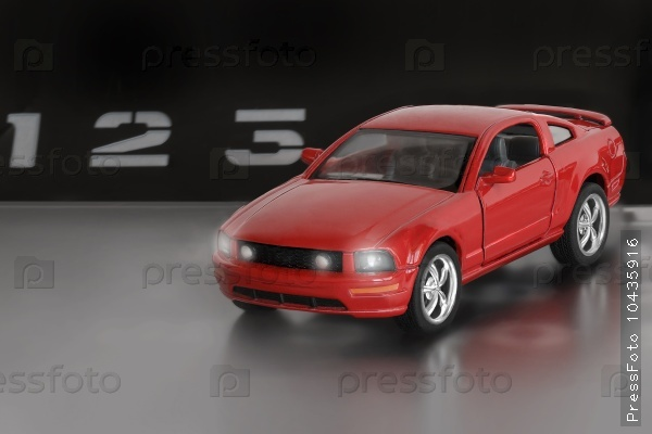 Model of the sports car