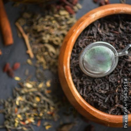 berries  tea composition