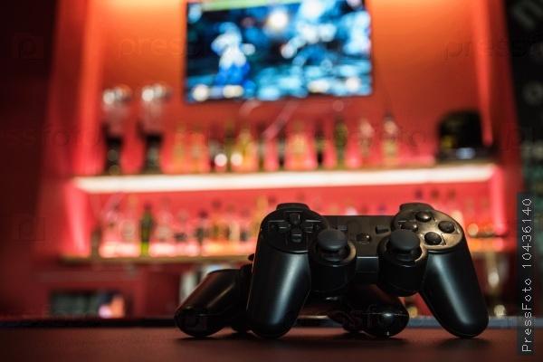 Video games at bar