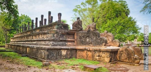 The Council Chamber, Polonnaruwa, Sri Lanka. Panorama