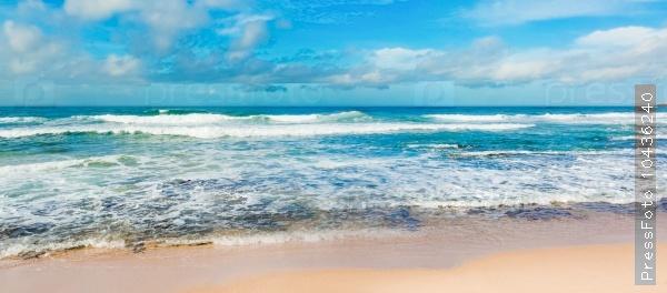 The Indian ocean. Panorama
