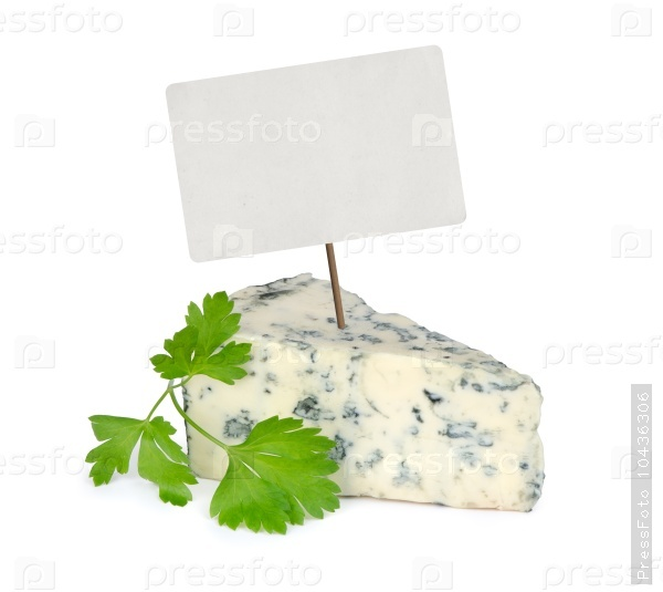 blue cheese with price tag