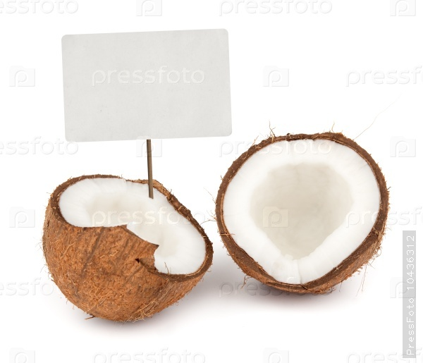 Coconut with price tag