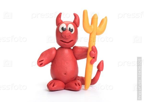 Plasticine Cute Devil Monster