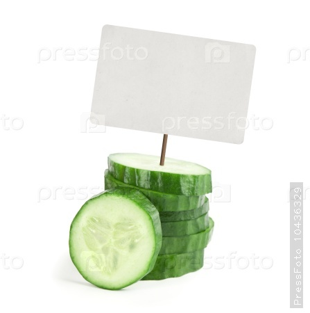 cucumber with price tag