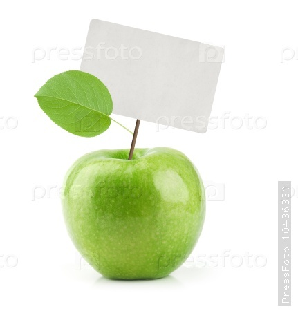 Green Apple with price tag
