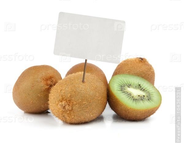 Fresh kiwi with price tag