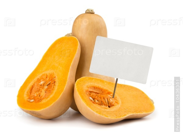 Butternut squash with price tag