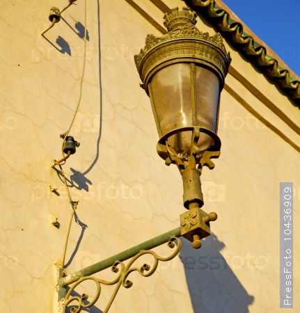 street lamp in morocco africa old lantern   the outdoors and de