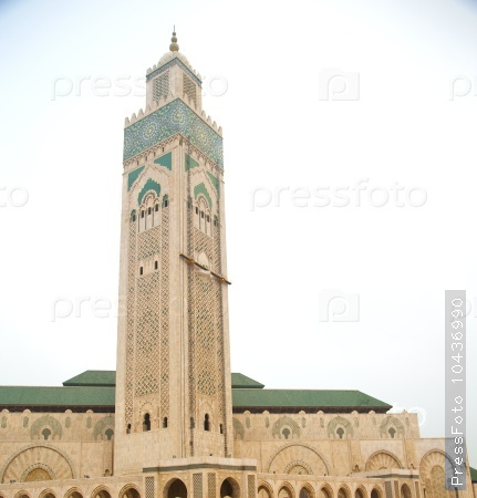 muslim in  mosque the history  symbol   morocco  africa  minare