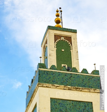 muslim   in   mosque  the history  symbol morocco  africa  mina