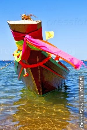 boat prow asia   the  bay  kho tao