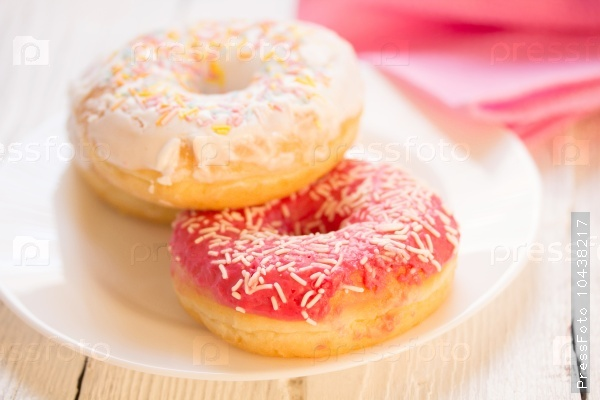 glazed yeast-raised ring doughnut