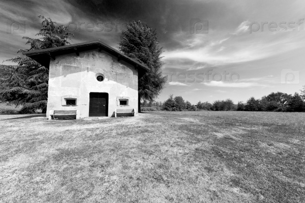 europe  old grass  in italy milan religion       and sunlight