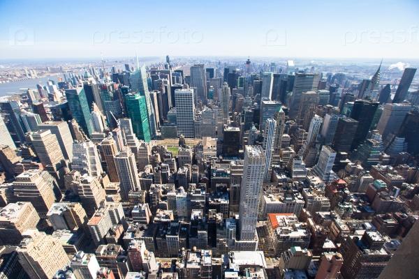Манхэттена от Эмпайр Стейт Билдинг, Нью-Йорк