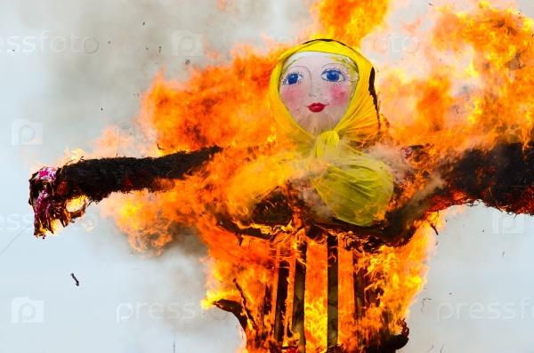 Сожжение чучела Масленицы