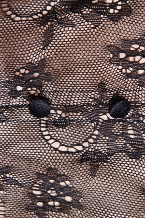 Текстура золотой и черный кружевной узор