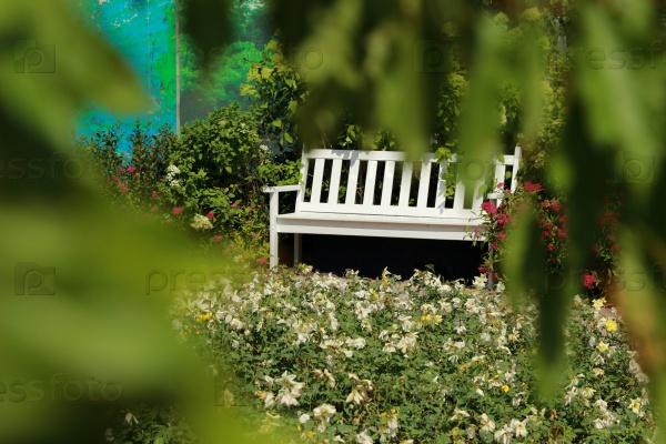 Деревянная садовая скамейка