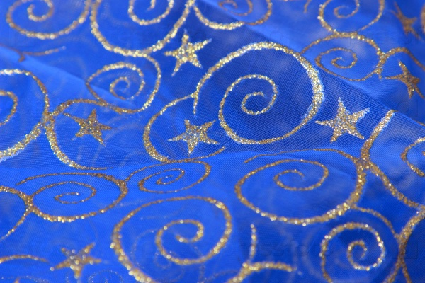 Синий фон с золотой звездой