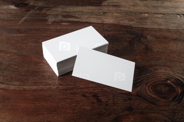 Пустые визитные карточки