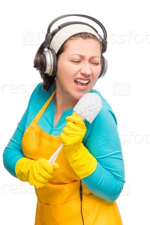 Смешная домохозяйка