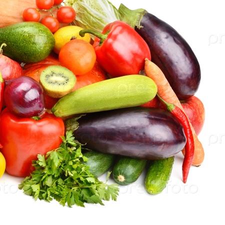 Набор фруктов и овощей