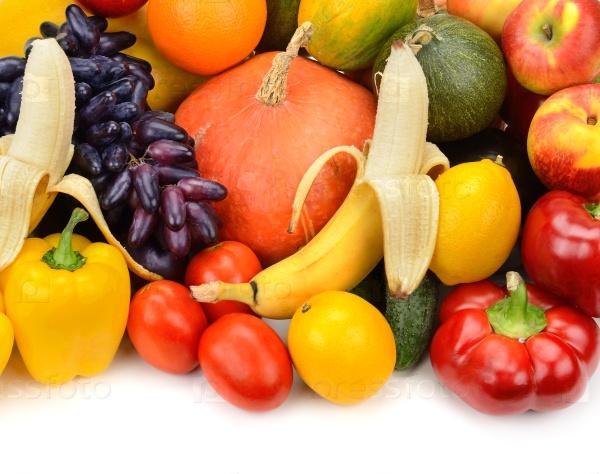 Фон фруктов и овощей