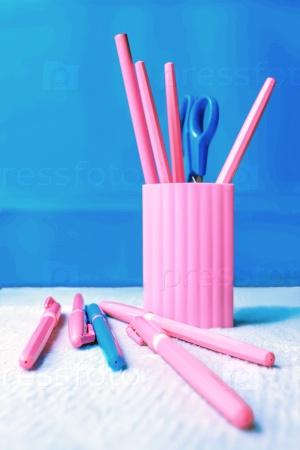Розовый и голубой